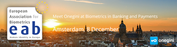 Meet Onegini at Biometrics in Banking and Payments Amsterdam 8 December
