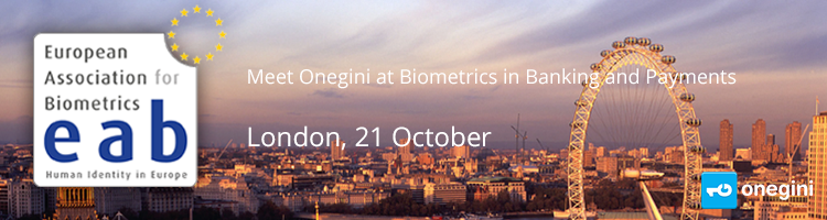 Meet Onegini at Biometrics in Banking and Payments London 21 October
