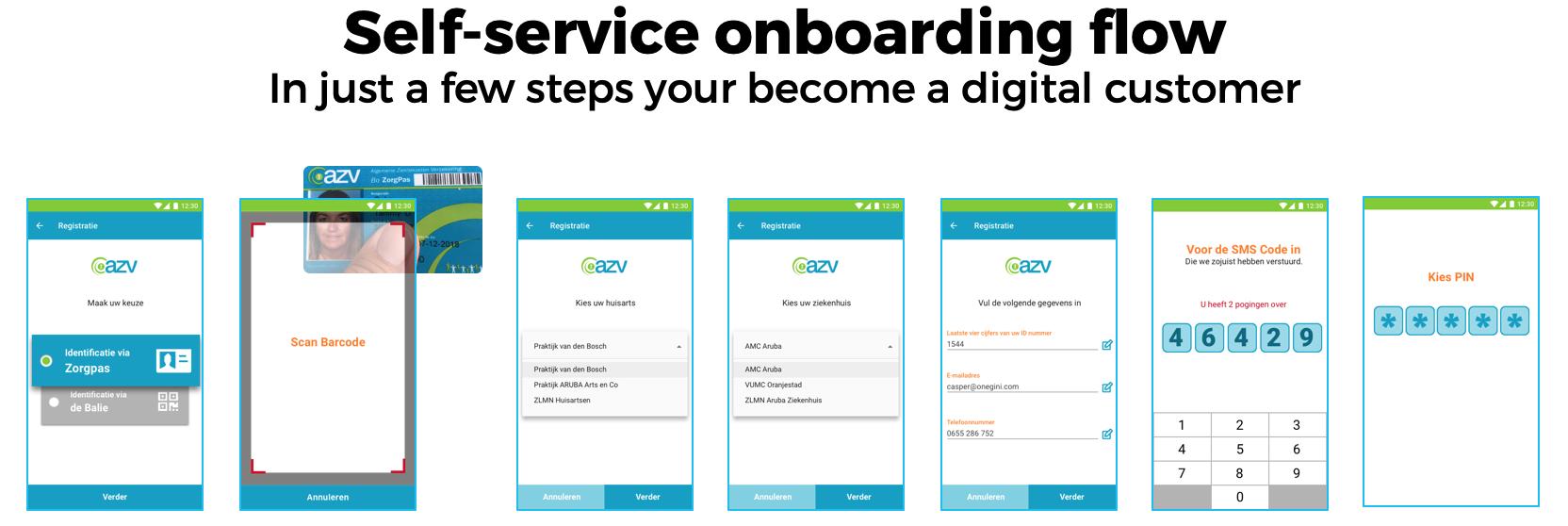 Self-service onboarding